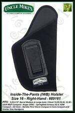 UNCLE MIKE'S INSIDE-THE-PANTS - IWB - SIZE 16 - RH - OPEN STYLE HOLSTER - 89161