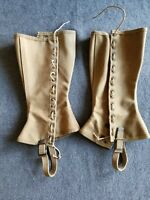 Original WWII WW2 US Army Military Canvas Boot Leggings Size 3R 1942
