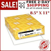 "Neenah Wausau Index Card Stock 90 lb White Copy Paper - 8.5 x 11"" - 250 Sheets"