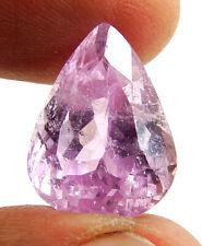 16.85 Ct Certified Natural Kunzite Spodumene Loose Gemstone Pear Stone - 134652