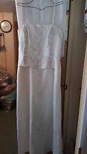 VINTAGE ?WEDDING /BRIDESMAID DRESS JESSICA STRAPLESS LOOKS LIKE SUIT BEADS 34 C