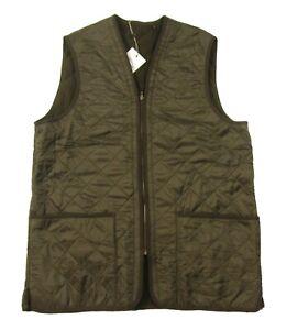 Barbour Men's Olive Green Polarquilt Waistcoat Zip-In Liner Vest