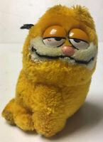 "Garfield plush Dakin vintage 1981 Orange Cat Jim Davis cartoon 5"" Sitting Smug"