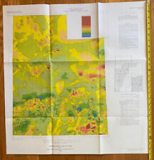 Vintage Aeromagnetic Map Of Utah 1976