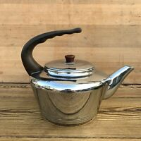 Large Vintage Retro Stainless Steel Stove Top Kettle Aga Rayburn Camping