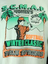 Vintage Nike Womens Softball Winter Classics Palm Springs T Shirt XL Made in USA