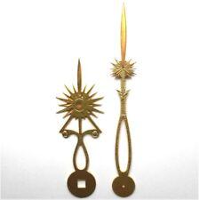 Aiguilles soleil en laiton pour horloge comtoise hands for Antique french clock