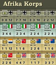 Avalon Hill's Afrika Korps Replacement Counters by John Cooper - Die-Cut