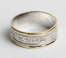 Celtic Wedding Ring 14k Gold bands and Sterling Silver design all sizes