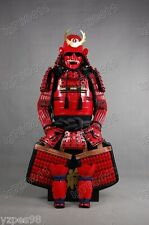 wearable Iron & Silk Japanese Rüstung samurai armour suit Red 027