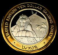 .999 $10 Silver Strike • Luxor Casino • Las Vegas • Sphinx and Pyramid