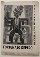 Fortunato Depero New School For Social Research March 1-20 1948 catalogo mostra