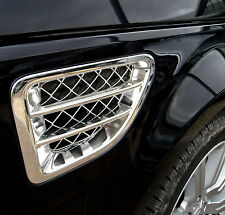 Chrome SIDE wing VENTS Range Rover Sport air intake fender grille accessories