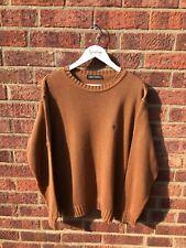 Vintage CARLO COLUCCI Jumper   SMALL MEDIUM   Burnt Orange Knitted Knit Retro
