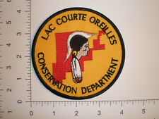 WI Wisconsin Lac Courte Oreilles Indian tribe DNR Warden tribal police patch