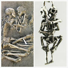 Men Infinity Tibet Silver Black Stainless Steel Skull Pendant Chain Necklace new