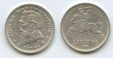 G8444 - Lithuania 5 Litai 1936 KM#82 Silver Scarce Latvia Litauen