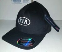 Black KIA Motors Car Company Logo Embroidered Baseball hat cap Flexfit S/M