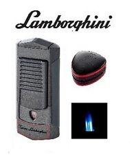 LAMBORGHINI SEPANG TRIPLE 3X TORCH JET FLAME CIGAR LIGHTER /METALLIC GREY + RED