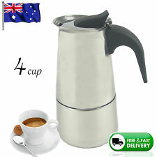 NEW 4 CUP ESPRESSO MAKER Coffee Stainless Steel Percolator Perculator Stove Top