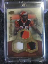 2008 UD PREMIER CHAD JOHNSON TRIPLE RELIC PATCH 2 COLOR HELMET SSP /10