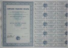 Action - Compagnie Financière MOCUPIA, action de 100 Frs N° 008244
