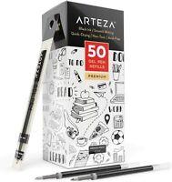 ARTEZA Gel Ink Pen Refills, Black - Pack of 50