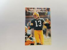 Green Bay Packers 1991 NFL Football Pocket Schedule - Packer Hall of Fame