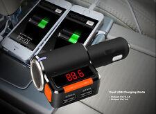 New Cigarette Lighter Splitter Bluetooth Mp3 Fm Transmitter Dual Usb Car Charger