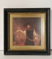 Small Vintage 1960's Aristotle Contemplating the Bust of Homer 7x7 Inches