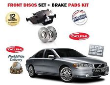 FOR VOLVO S60 2.4 D5 2.5 T R 2000-2010 NEW FRONT BRAKE DISCS SET + PADS KIT