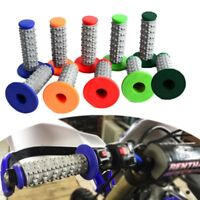 Motorcycle Hand Grips Dirt Bike Motocross Gel Handle Bar For Honda KTM Red Blue