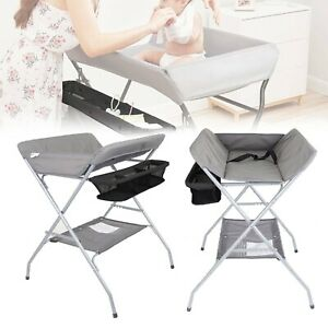 Baby Changer Unit Tables Folding Nursery Changing Station Bath Mat And Storage