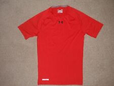 Men Sz Large Under Armour Sonic Armourvent Compression Heatgear Ss Shirt Top Red