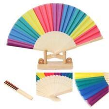 Rainbow Hand Held Folding Fan Dance Fan For Wedding Themed Parties Decoration