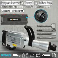4000W Demolition Jack Hammer Commercial Grade Jackhammer Electric Tool 4 Chisels