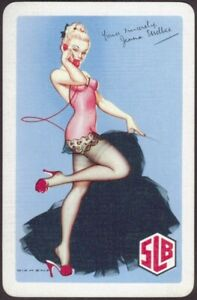 Playing Cards Single Card Old SLB SOUTH LONDON BREWERY Beer Advertising PIN UP A