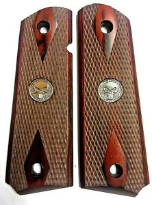 1911 GRIPS for Colt Rock Island & Clones Punisher Rosewood Double Diamond