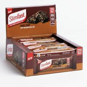 Slim Fast Meal Bars - Choc Chip 12 X 60g 211Kcal, High Protein Meal Replacement