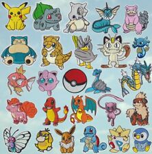 Pokemon Characters Iron/Sew On Patch Quality Embroidered Applique Pikachu
