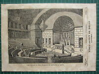 1834 Holzschnitt Aufdruck ~ The Palast Der Kammer Von Deputies Bei Paris