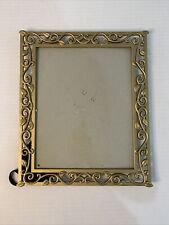 Photo Frame Gold Metal Freestanding Or Hanging Holds 8x10� Picture Preowned