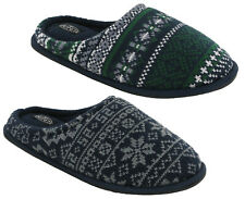 Mens Slippers Comfort Warm Slip On Mules Ribbed Outsole UK 7-12