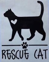 *Color & Size Choice* Kitten Cat Adopt Rescue Vinyl Decal Sticker Car Window