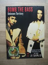 Bomb the Bass - Unknown Territory - 1991 - MAGAZINE MUSIC ADVERT  30 X 22 cm
