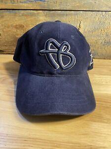 Vintage FUBU Initials FB Logo OSFA Hat Cap Youth size or adult small Navy Blue