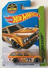 Hot Wheels '71 Datsun Bluebird 510 Wagon - Mesh Grill Yellow Super Fast Ship 17C