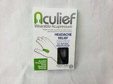 Aculief - Natural Headache Tension Relief - Wearable Acupressure (Black)