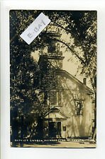 Manchester MA Mass RPPC real photo Baptist Church, early