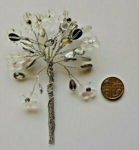 12 Stems Diamante Flowers on wire - Bouquet Buttonholes Cakes, Wedding Corsages